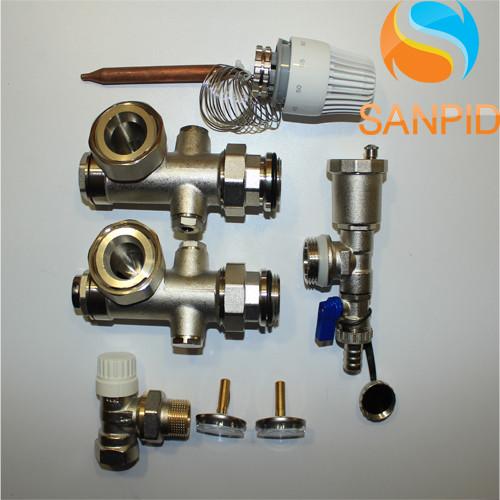 Смесительная система для теплого пола Asco Armatura угловая