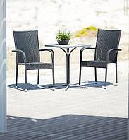 Комплект садовой мебели из искусственного ротанга (2 кресла и столик)