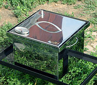 Коптильня из нержавеющей стали (400х300х280) с термометром, фото 1