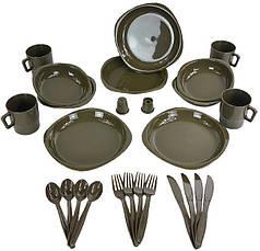 Набор посуды туристический на 4 персоны MilTec Teller Olive 14687000