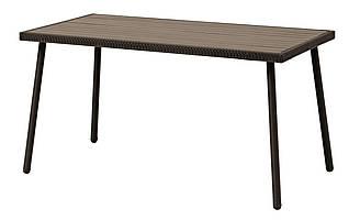 Садовый прямоугольный стол из стали и артвуда
