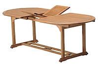 Садовый раскладной овальный стол из хардвуда (твердое дерево)