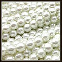 Жемчуг керамический 10 мм молочный (80-90 шт)