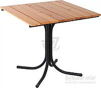 Садовый стол квадратный из метала и дерева (для кафе и улици)