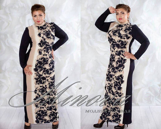 "Шикарное женское платье в пол ""Кукурузка"" 50, 54, 56 размер батал, фото 2"