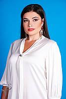 Блуза белая с галстуком размеры XL Эллен