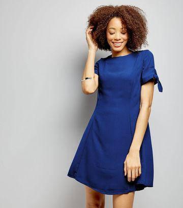 Новое синее платье с завязками на рукавах New Look, фото 2