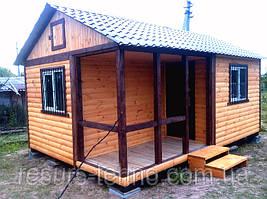 Дачный домик 6м х 4м Блокхаус