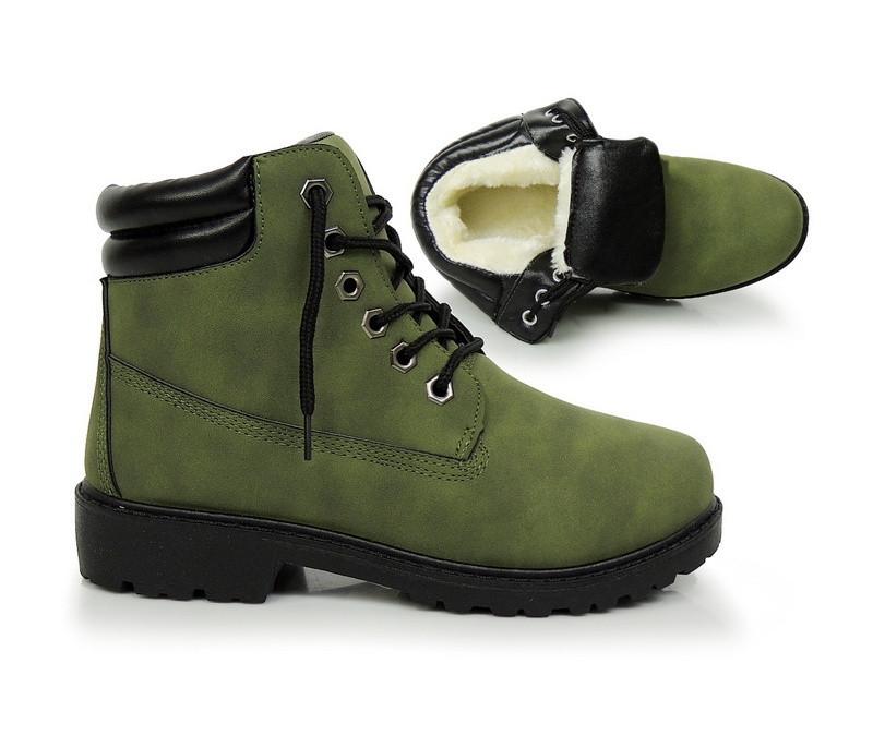 Зелёные, тёплые женские ботинки на зиму  размеры 37-40 - Booms.com.ua - магазин товаров по доступным ценам о производителя ! в Киеве