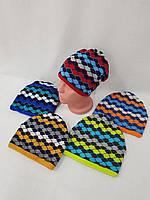 Подростковые шапки оптом на флисе для мальчиков, р.52-54, Польша