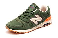 Кроссовки нубук New Balance 670, унисекс, зеленые, р.  38 39 40