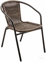 Садовое кресло искусственный ротанг на ножках металлических