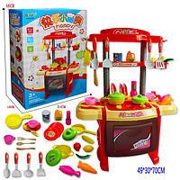 Детская кухня с плитой Kitchen Set 7500: посуда + продукты