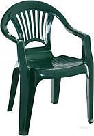 Садовое кресло зеленое из пластика  (для кафе и улиц)