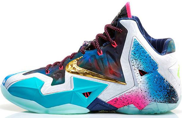 Баскетбольные кроссовки Nike Lebron 11 LeBron 11 What The -  Интернет-магазин обуви и одежды 355480971bb
