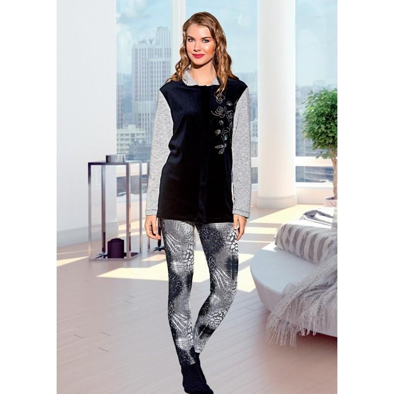 Купить Костюм домашний женский велюровая пижама турция продажа в ... 557d14c2b4acd