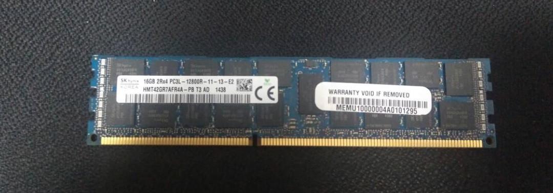Модуль памяти Hynix 16gb 2rx4 pc3l-12800r-11-13-e2 бу