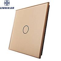 Лицевая панель для сенсорного выключателя Livolo 1 канал   цвет золото
