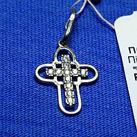 Крестик серебряный с камнями Свет жизни пс 260