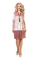 Оригинальное бархатистое платье