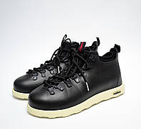 Мужские зимние ботинки черные №2 Native Fitzsimmons (реплика)