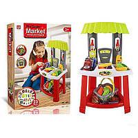 Игровой Набор Супермаркет / Магазин1522 -прилавок 37*60.5*27см, корзина, продукты, 23предмета, в коробке