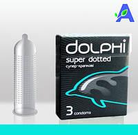 Презервативы c пупырышками классической формы Dolphi Super Dotted 3 шт в упаковке