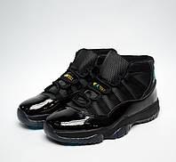 Кроссовки мужские баскетбольные Nike Air Jordan XI Black (найк эир джордан, реплика)