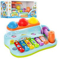 Ксилофон Бряк-Звяк 9199 музыкальный с молоточком  Limo Toy