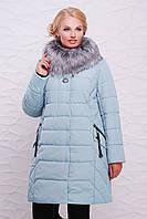 Красивая теплая женская зимняя куртка на меху в больших размерах 52,54,56,58,60