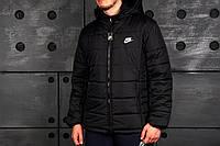 Мужской зимний пуховик/куртка найк/Nike, черная