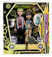 Набор кукол Монстер хай Клео Де Нил и Дьюс Горгон базовые Monster High Cleo De Nile and Deuce Gorgon Giftset