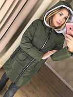 Женская зимняя куртка  (черная и хаки)