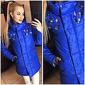 Женская куртка со стразами (818) ЕВРОЗИМА