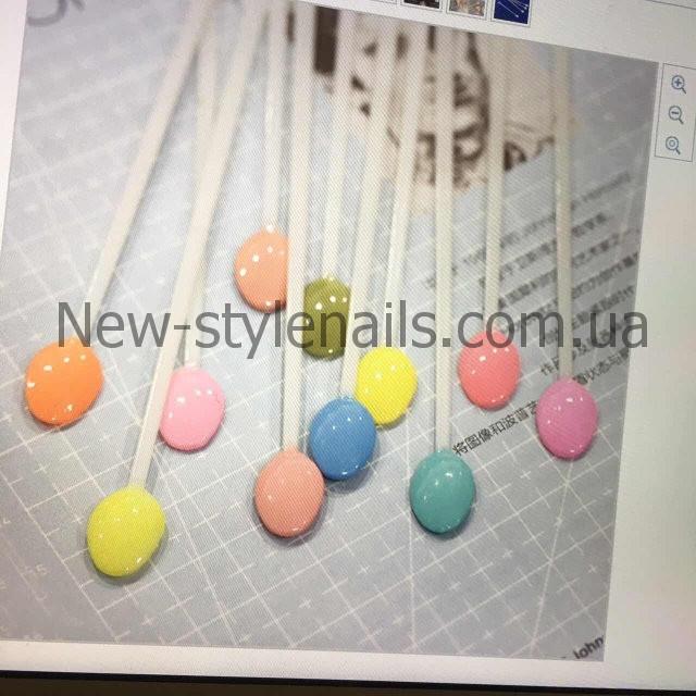 Типсы для образцов на кольце овальные, 100 штук в упаковке