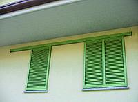 Деревянние раздвижные ставни на окна  поворотные ламели