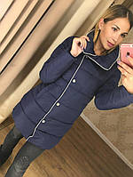 Женская зимняя куртка без капюшона с воротником стойкой (разные цвета)