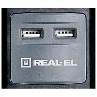 Фильтр питания REAL-EL RS-5 USB CHARGE 3.0m черный UAH
