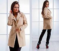 Женское кашемировое пальто на пуговке