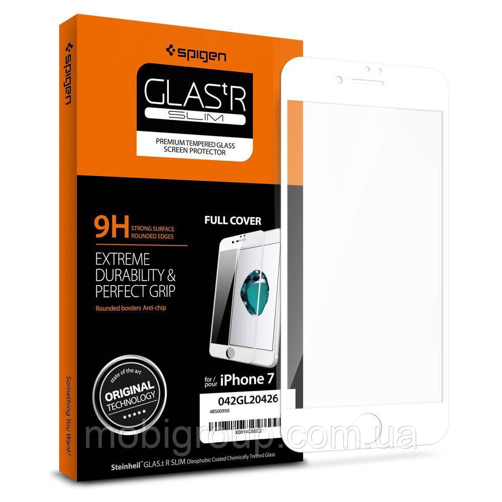 Защитное стекло для iPhone 7 Full Cover, White  , фото 1