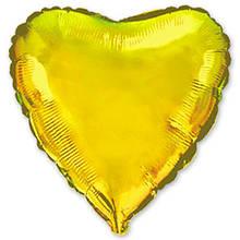 1204-0124 Шар золотое сердце 80 см