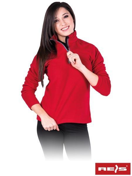 Женская флисовая кофта REIS POLLADYКS(original) свободная с молнией на шее спортивная теплая зимняя