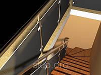 Стеклянная лестница по индивидуальному заказу.триплекс для стеклянной лестницы.лестница из безопасного стекла.