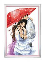 Набор для вышивки крестиком Пара под зонтом