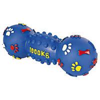 Игрушка для собак гантель с пищалкой 25см. Трикси-3363