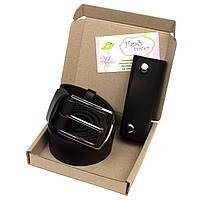 Подарочный набор №13 (черный): Ремень мужской + ключница