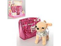 Интерактивная собачка Кикки 3642 с модной сумочкой: 22см, звук (украинский)