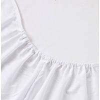 Простынь на резинке в детскую кроватку BabySoon белая 120 х 60 см (237)