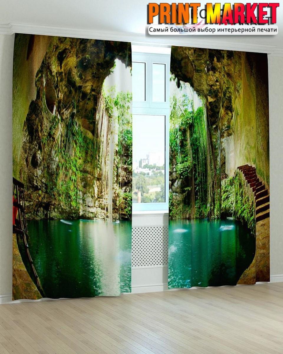 Фотошторы озеро в пещере
