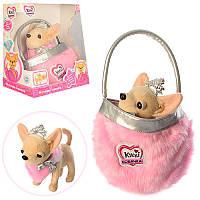 Интерактивная собачка Кикки 3481 с модной сумочкой: 22см, звук (украинский)